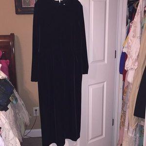 Talbots petite black velvet dress